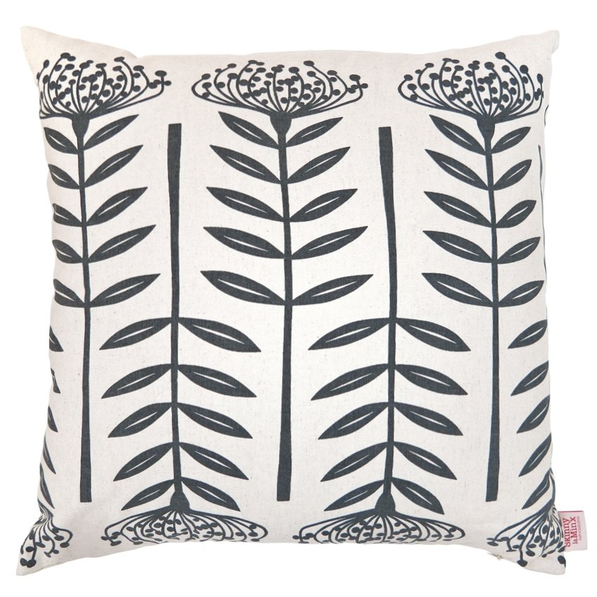 Charcoal Tall Protea Cushion Cover - Artisans Bloom