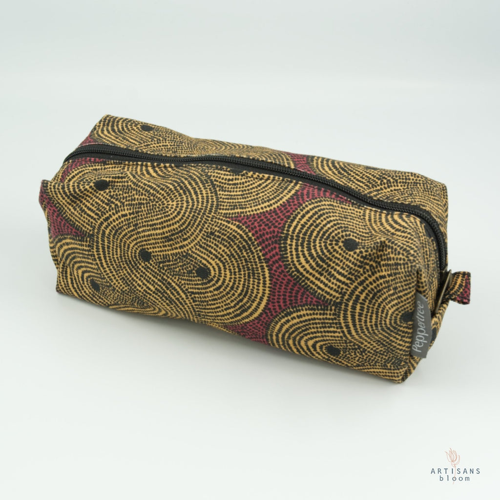 Cosmetic Purse - Crop Field Tumeric - Artisans Bloom
