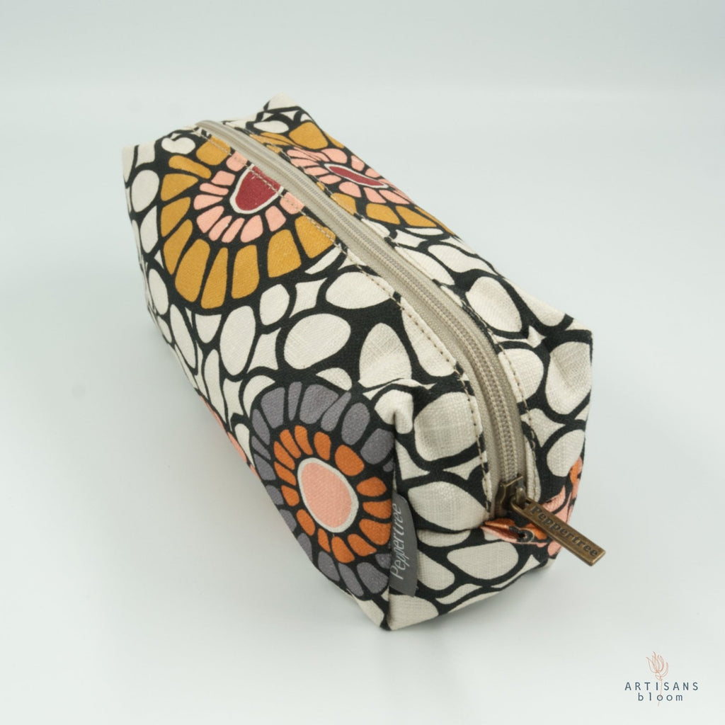 Cosmetic Purse - Okra Pickled Ginger - Artisans Bloom