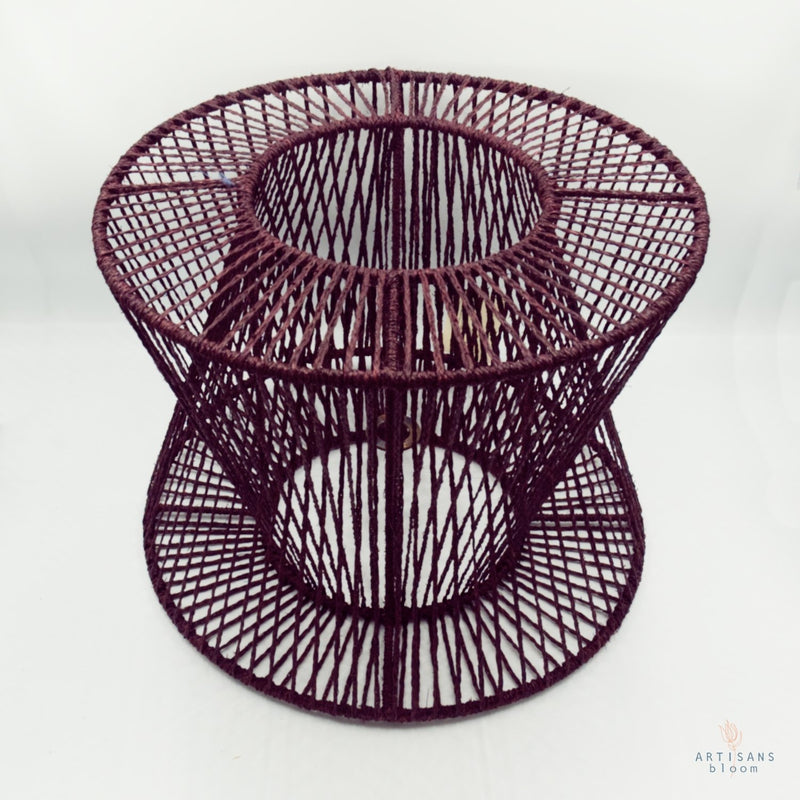 Criss-Cross Lamp Shade - Plum - Artisans Bloom