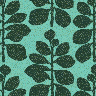 Fabric - Crassula Atlantic on Aqua - Artisans Bloom