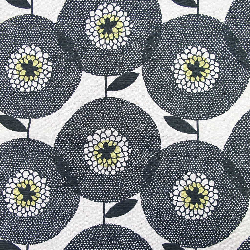 Fabric - Flower Fields Penny Black - Artisans Bloom