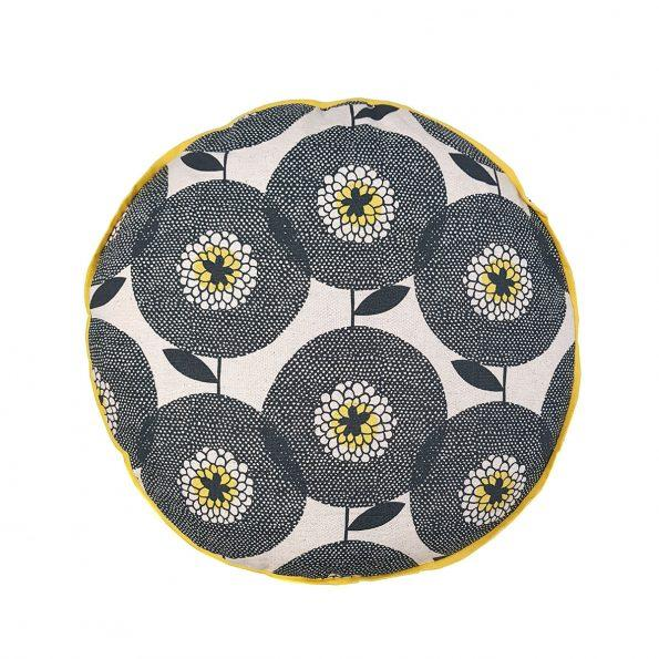 Flower Fields Round Cushion Cover - Artisans Bloom