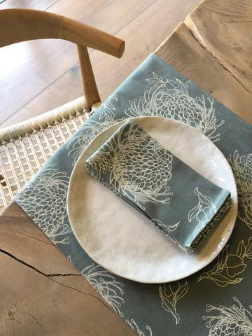 Garden Bloom Parchment Table Runner - Artisans Bloom