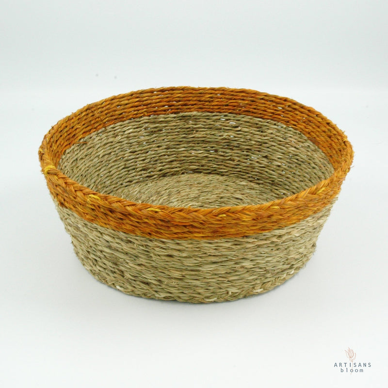 Gold Trim Basket - 18cm - Artisans Bloom