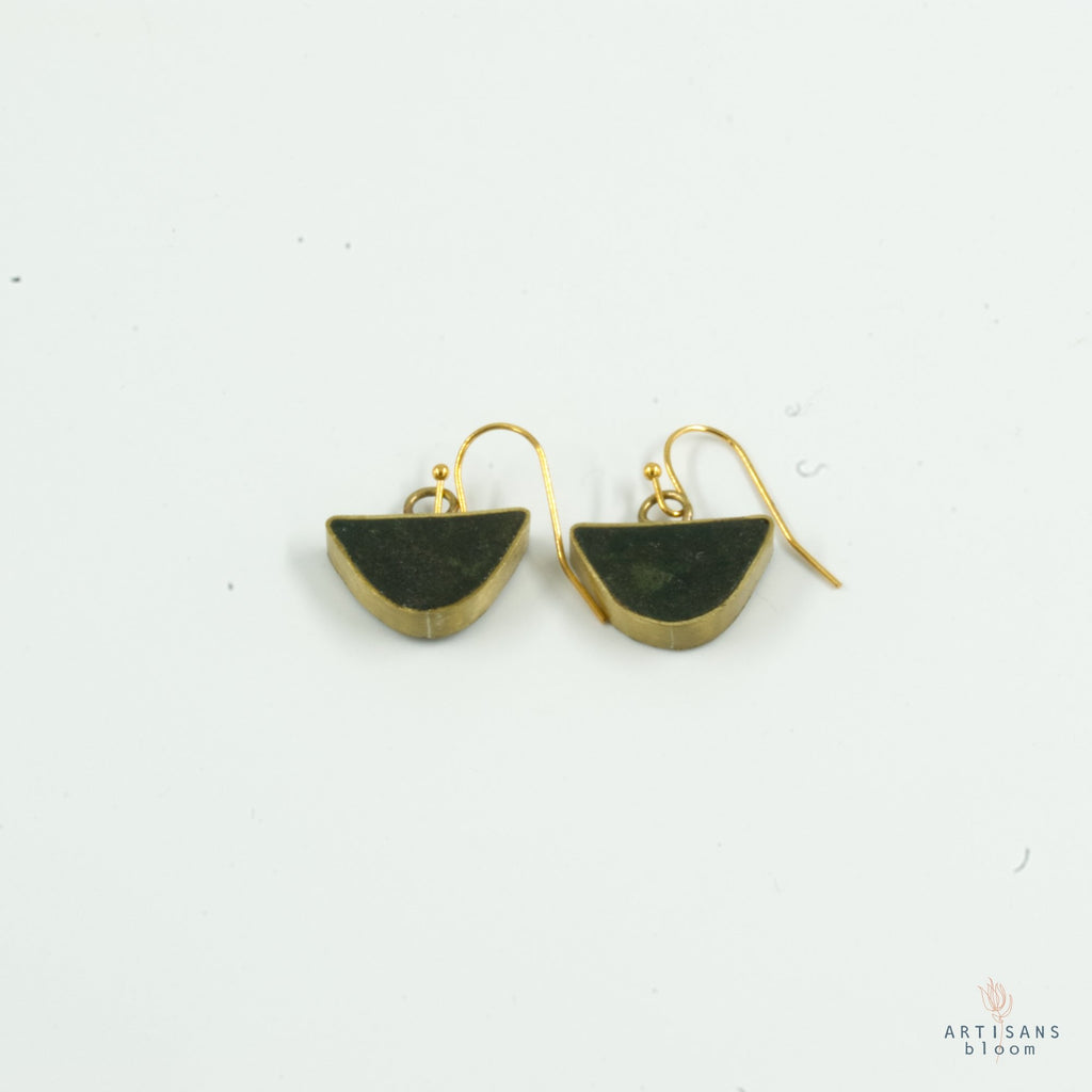 Half Circle Drop Earring - Forrest - Artisans Bloom