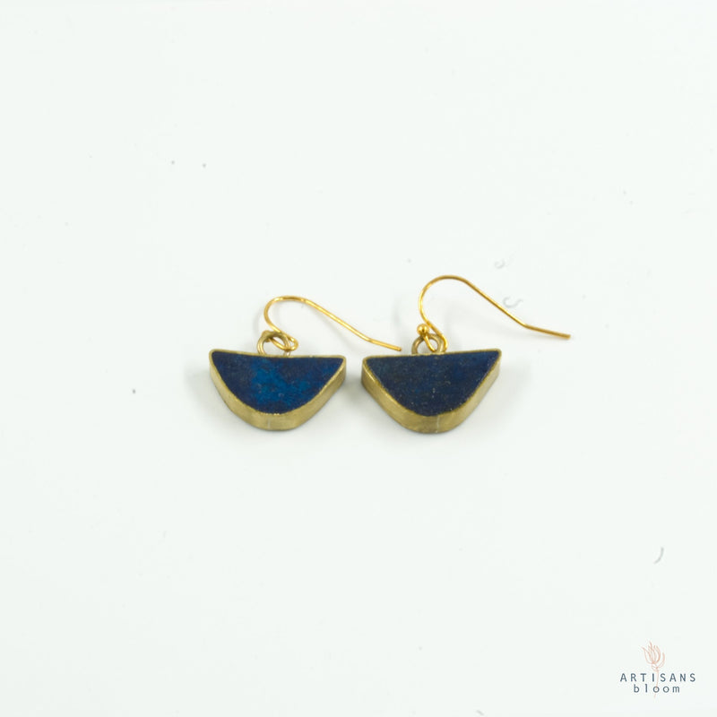 Half Circle Drop Earring - Indigo - Artisans Bloom