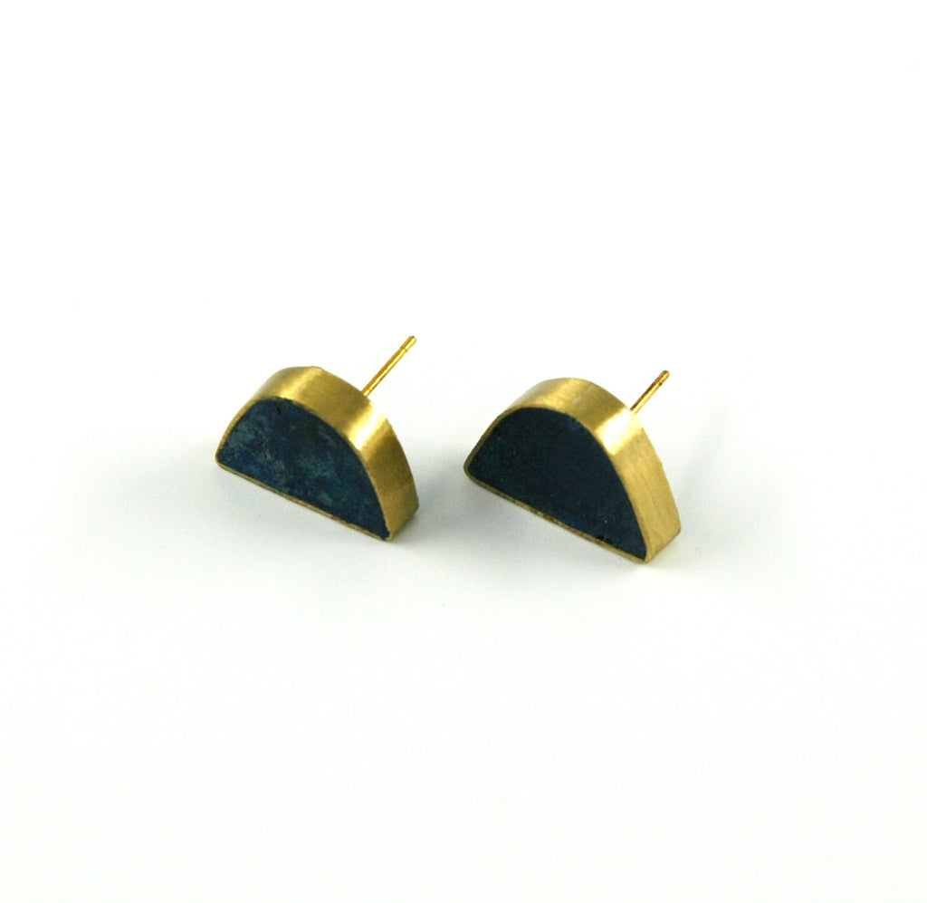 Half Circle Pulp Earring - Indigo - Artisans Bloom