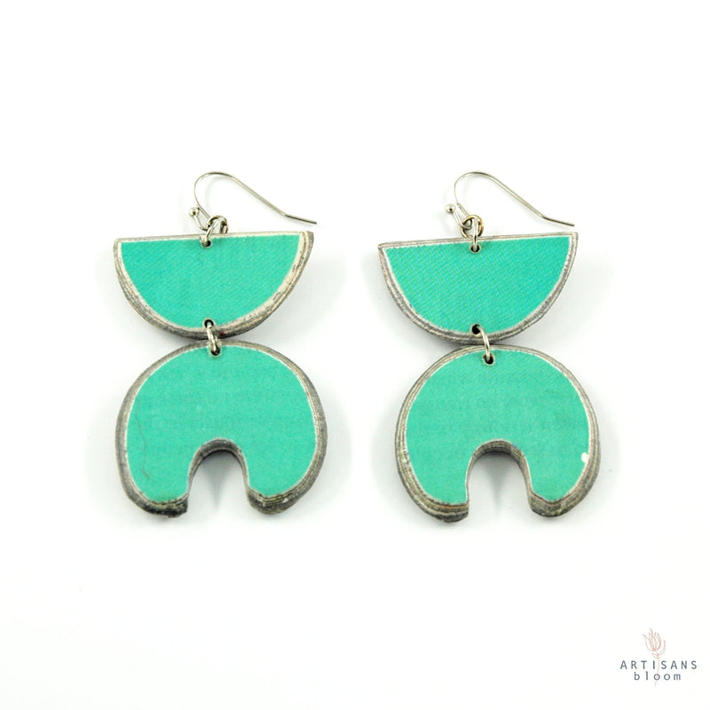 Jabu Layered Earring - Turquoise - Artisans Bloom