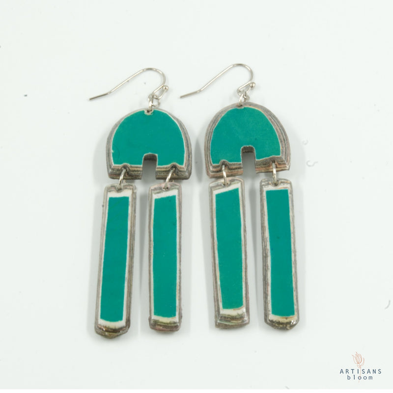 Khosie Earring - Emerald - Artisans Bloom