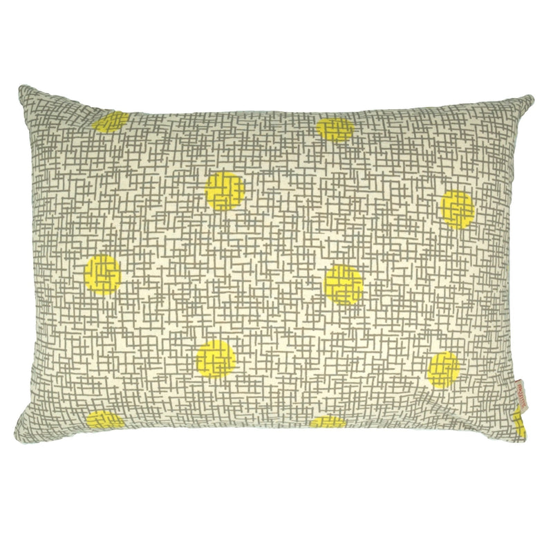 Lemon Gridly Cushion Cover - Artisans Bloom