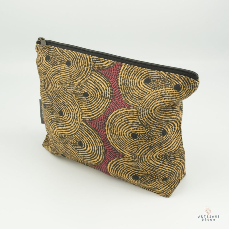 Make Up Bag - Crop Field Tumeric - Artisans Bloom