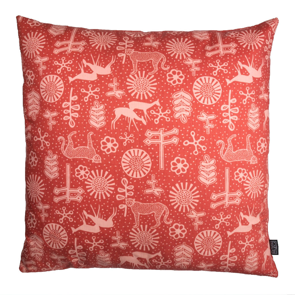 Masala Leopard Cushion Cover - Artisans Bloom