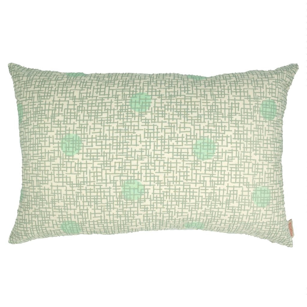Mint Gridly Cushion Cover - Artisans Bloom