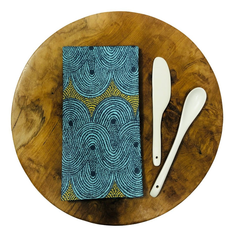 Napkin Set - Crop Field Aqua - Artisans Bloom