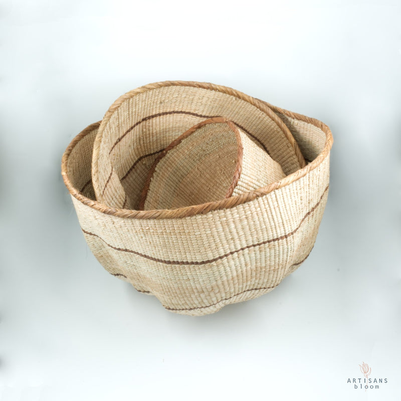 Patterned Wonky Basket - Artisans Bloom
