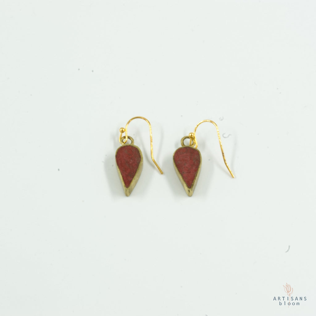 Petal Drop Earring - Coral - Artisans Bloom