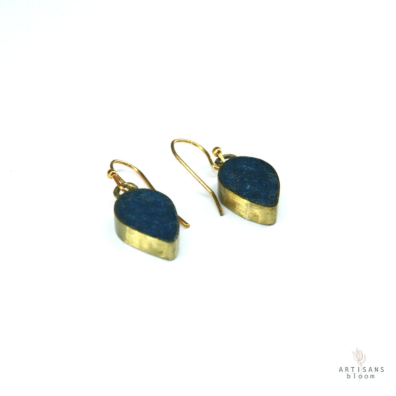 Petal Drop Earring - Indigo - Artisans Bloom