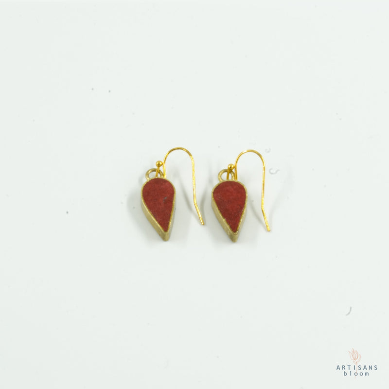 Petal Drop Earring - Ruby - Artisans Bloom