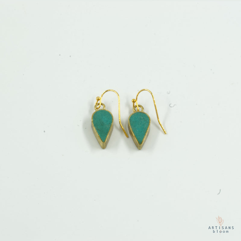 Petal Drop Earring - Turquoise - Artisans Bloom