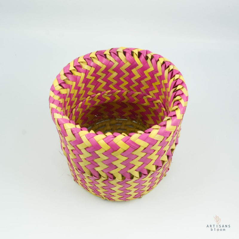 Pink and Gold AmaNiceNice Basket - Mini - Artisans Bloom