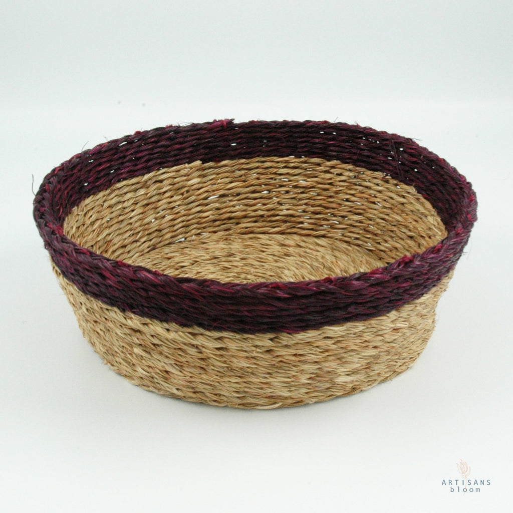 Plum Trim Basket - 18cm - Artisans Bloom