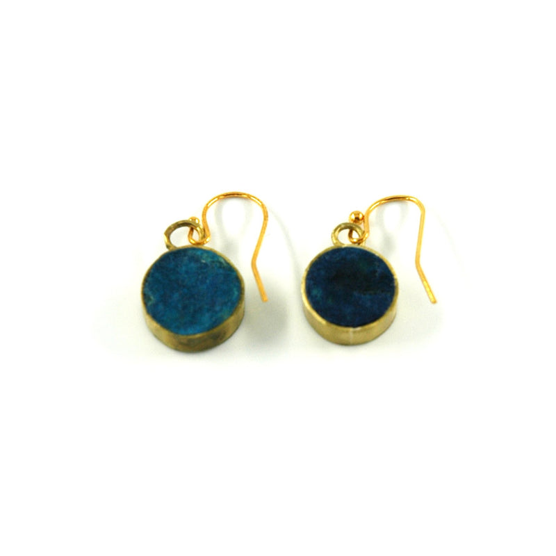 Pulp Circle Earrings - Indigo - Artisans Bloom
