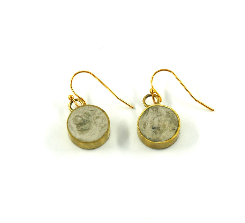 Pulp Circle Earrings - Stone - Artisans Bloom