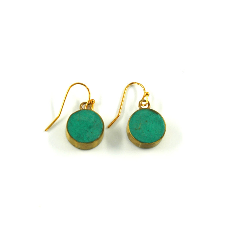 Pulp Circle Earrings - Turquoise - Artisans Bloom