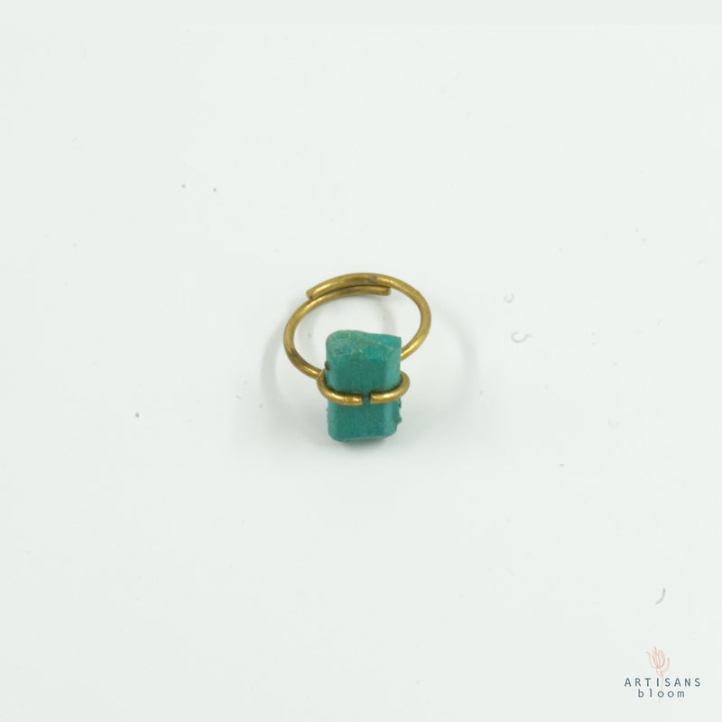 Pulp Nugget Ring - Turquoise - Artisans Bloom
