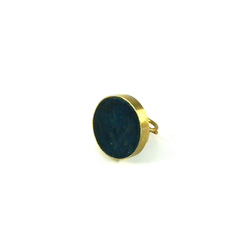 Pulp Rock Ring - Round - Indigo - Artisans Bloom