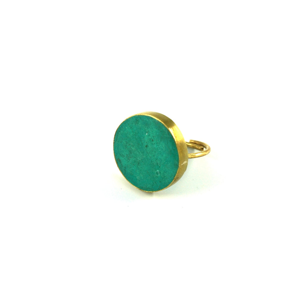 Pulp Rock Ring - Round - Turquoise - Artisans Bloom