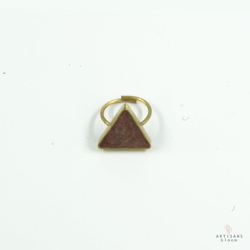 Pulp Rock Ring - Triangle - Coral - Artisans Bloom