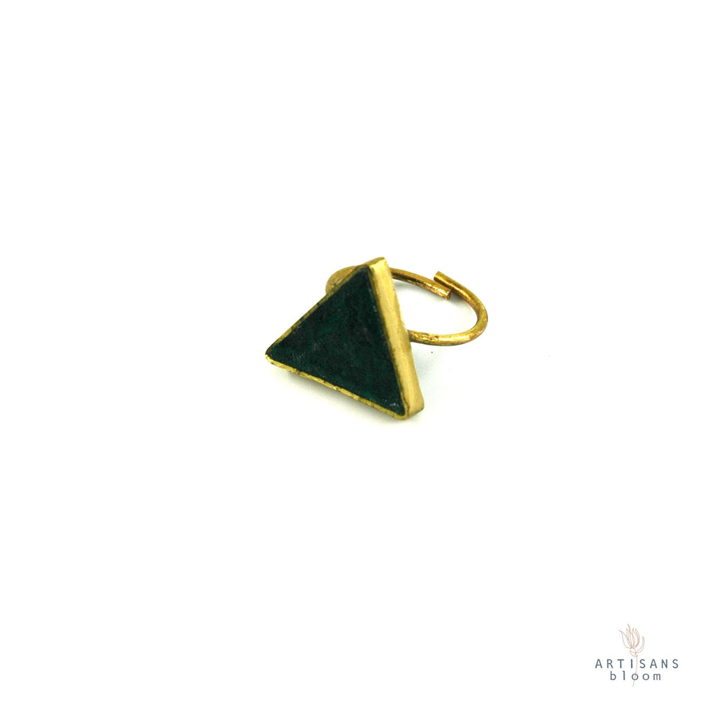 Pulp Rock Ring - Triangle - Forrest - Artisans Bloom