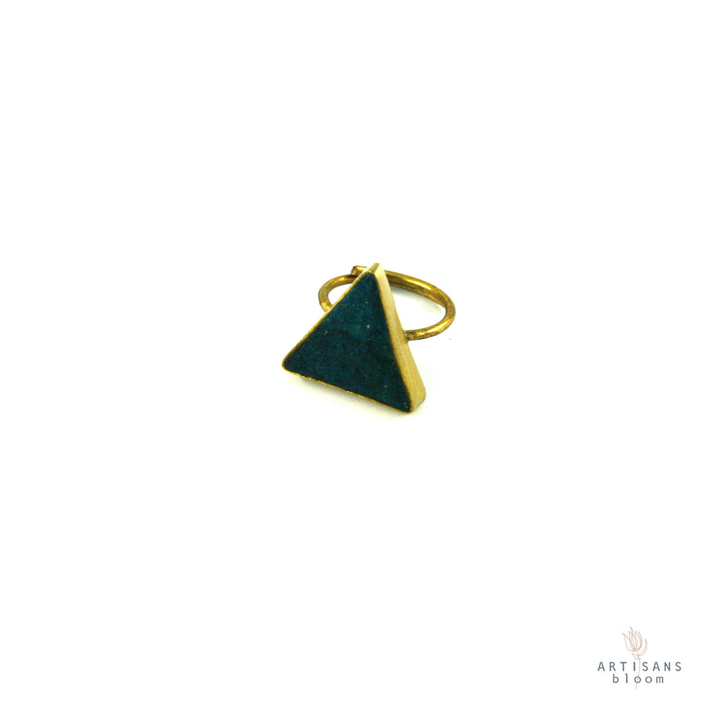 Pulp Rock Ring - Triangle - Indigo - Artisans Bloom