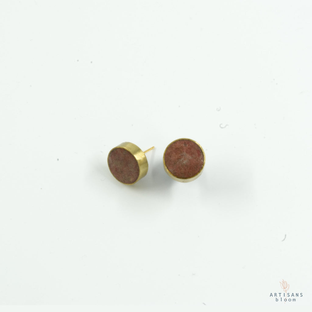 Pulp Stud Earrings - Coral - Artisans Bloom