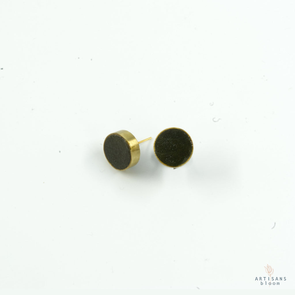 Pulp Stud Earrings - Forrest - Artisans Bloom