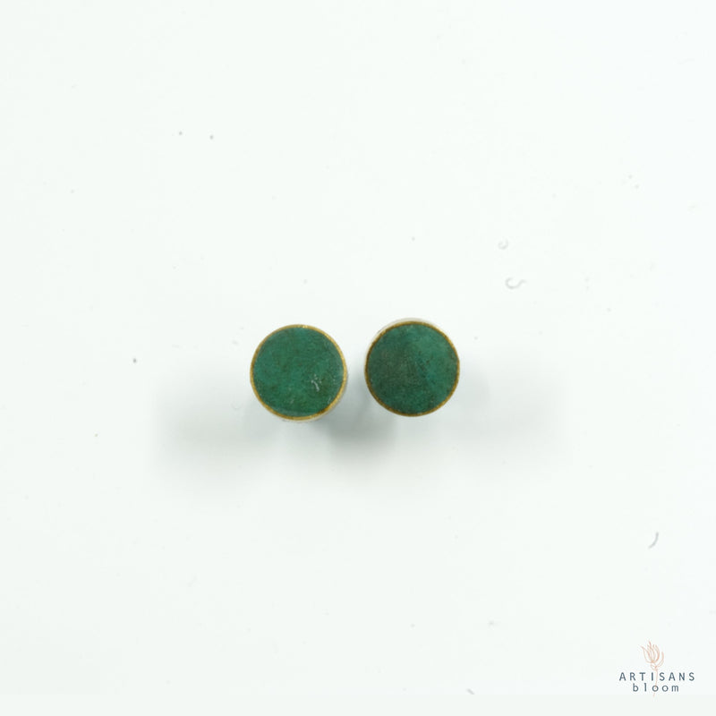 Pulp Stud Earrings - Turquoise - Artisans Bloom