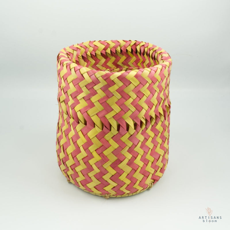 Red and Gold AmaNiceNice Basket - Mini - Artisans Bloom
