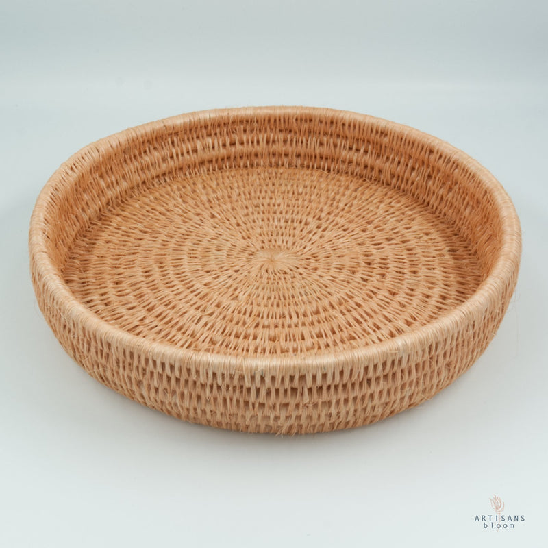 Round Lavumisa Tray - Blush - Artisans Bloom