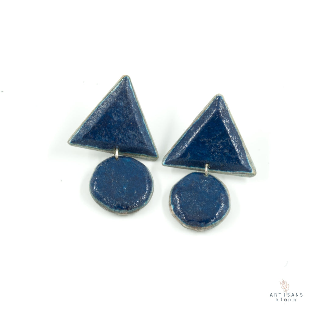 Siphiwe Pulp Earrings - Peacock - Artisans Bloom