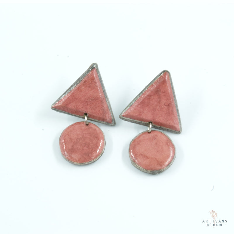 Siphiwe Pulp Earrings - Pink - Artisans Bloom