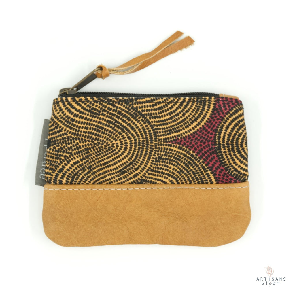 Small Zip Purse - Crop Field Tumeric - Artisans Bloom