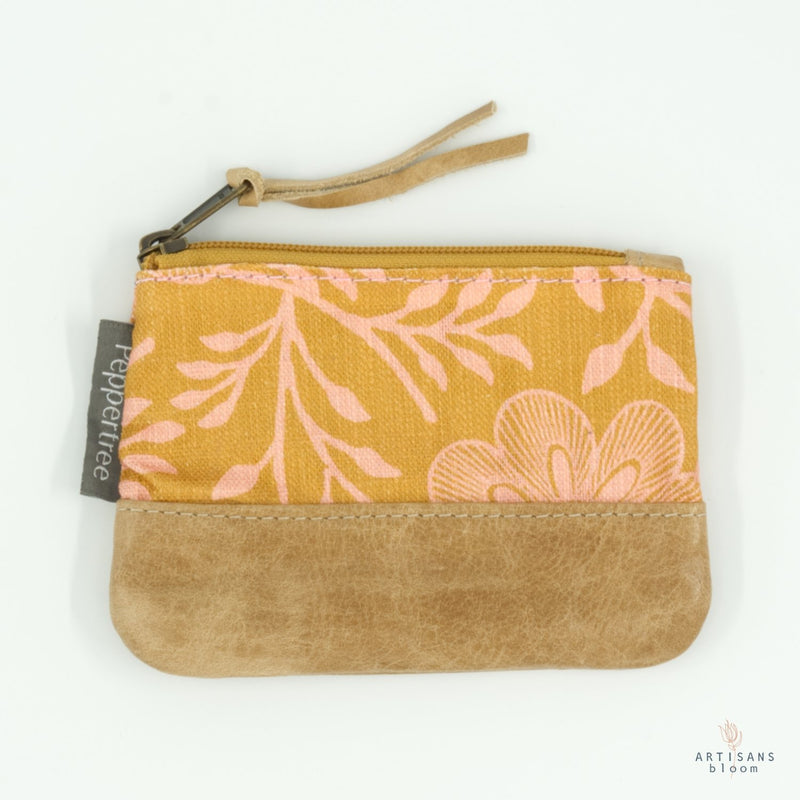 Small Zip Purse - Khanga Flower - Artisans Bloom