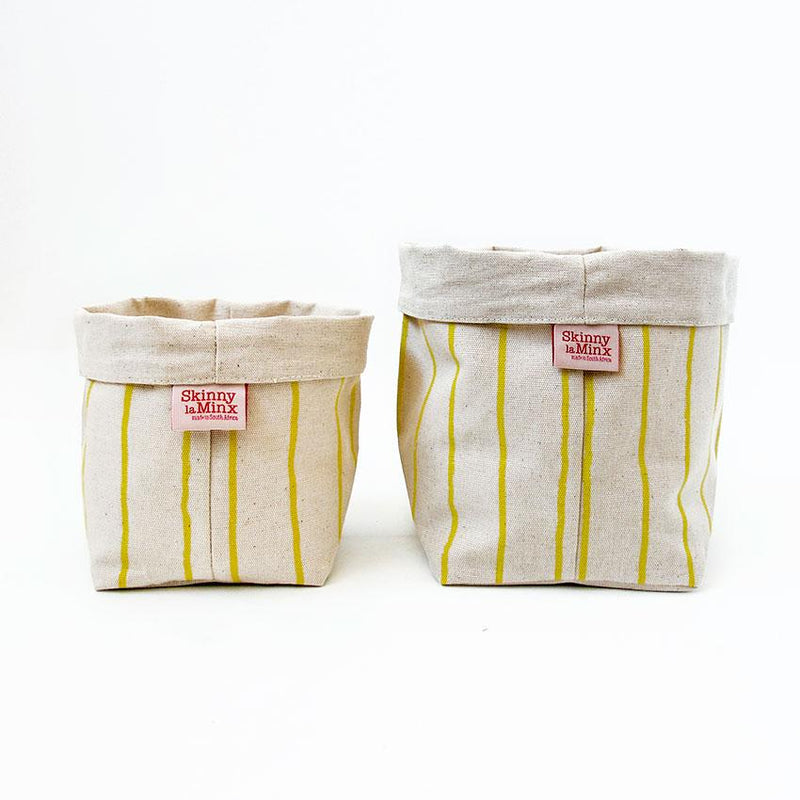 Soft Bucket - Simple Stripe Lemon - Artisans Bloom
