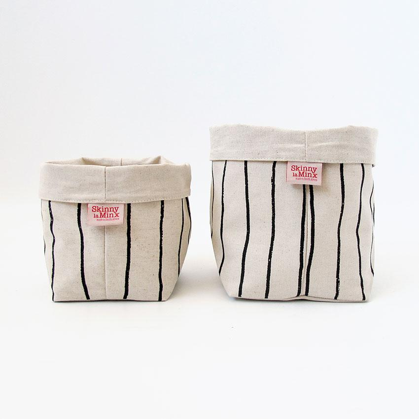 Soft Bucket - Simple Stripe Liquorice - Artisans Bloom