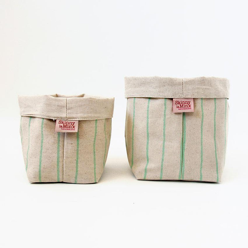 Soft Bucket - Simple Stripe Mint - Artisans Bloom