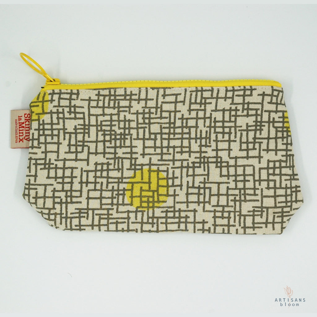 Stashbag - Gridly Lemon - Artisans Bloom