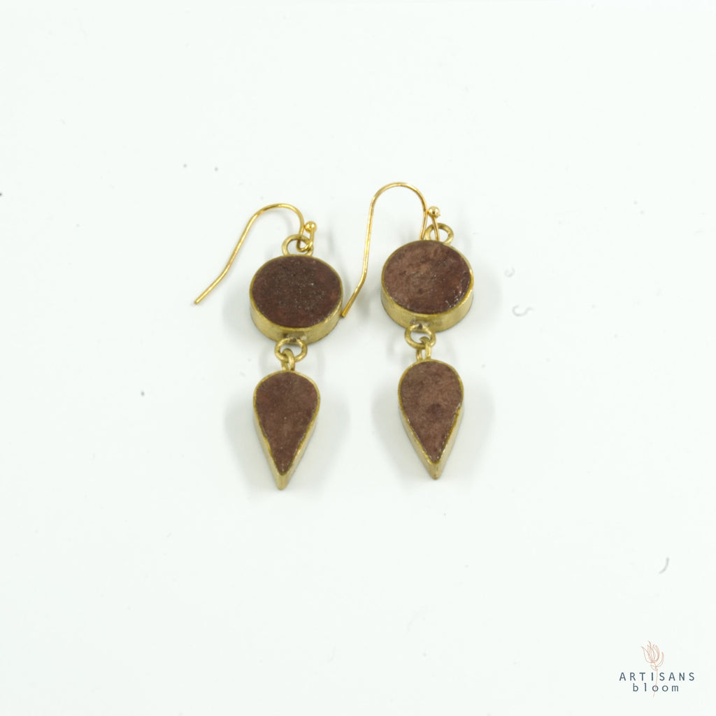 Sundrop Earring - Burgandy - Artisans Bloom