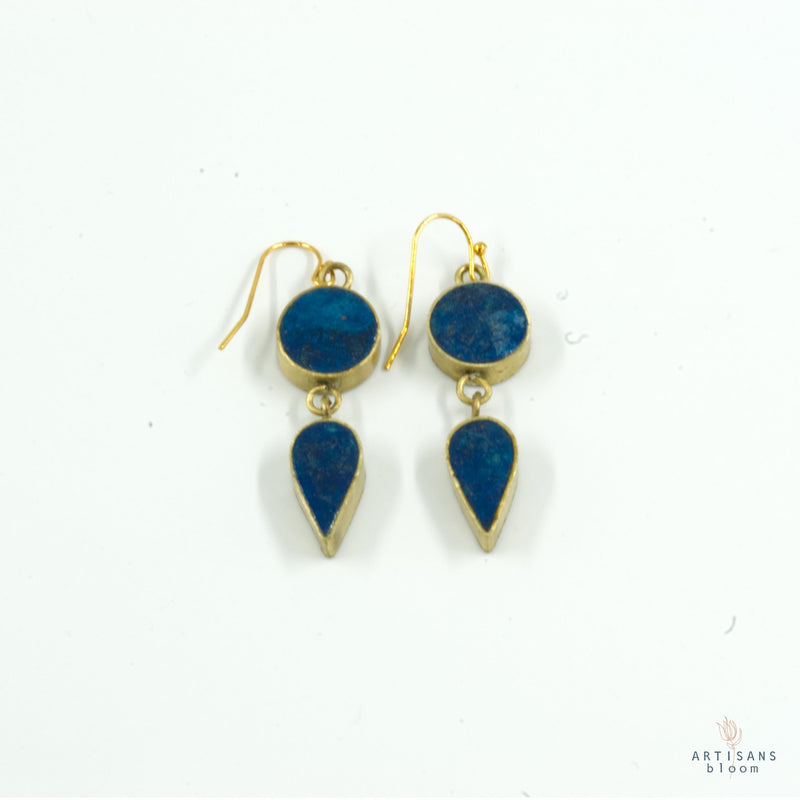 Sundrop Earring - Indigo - Artisans Bloom